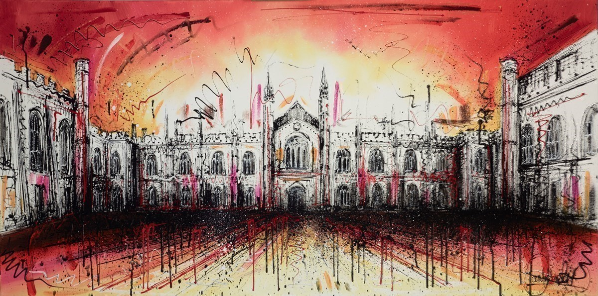 Corpus Christie College by Samantha Ellis -  sized 48x24 inches. Available from Whitewall Galleries